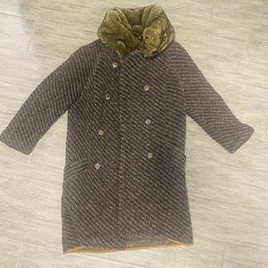 Zara vintage fur coat